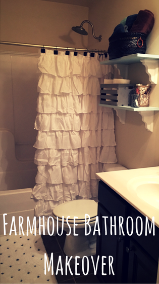 Farmhouse Bathroom Makeover copy